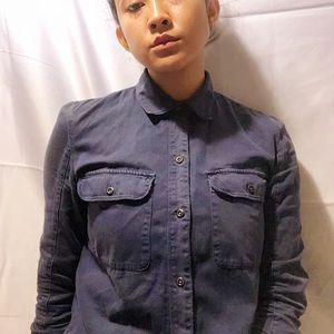 Madewell Blue Tomboy Work Button Down size Small